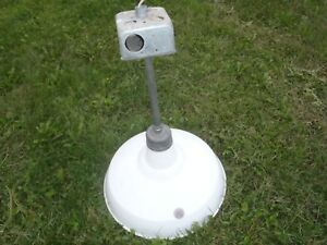 Nice Vintage Appleton Porcelain Industrial Light Fixture 16