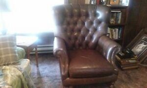 Quality Leather Classic Club Chair From Ralph Lauren Furniture