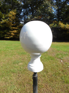 White Ball Finial Yard Globe Weathervane Alternative