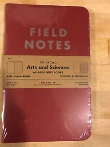 Field Notes Arts Sciences Edition Limited Edition 25 000 Summer 2014