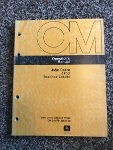 John Deere 610c Backhoe Loader Owner Operator Maintenance Manual Omt105781