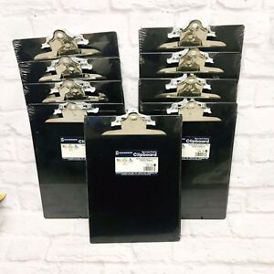 Lot Of 9 Saunders Plastic Clipboard 1 Capacity Holds 8 1 2 X 12 Black