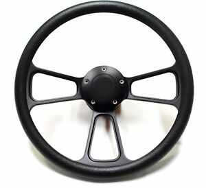 Hot Rod Street Rod Steering Wheel Black Billet Fits Aftermarket Gm Column
