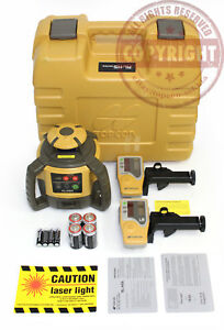 New Topcon Rl h5a Self leveling Rotary Grade Laser Level 2 Receivers Transit