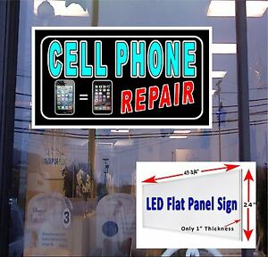 Led Sign Cell Phone Repair 48x24 Window Sign Neon Banner Altern New Gen Leds
