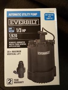 Everbilt Ut03301 Automatic Utility Pump 1 3 Hp 1 920 Gph 1000 026 578 Uto3301
