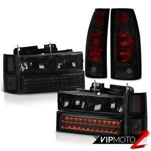 Silverado 1994 1998 Smoke Bumper Corner Headlights Darkest Tinted Tail Lights
