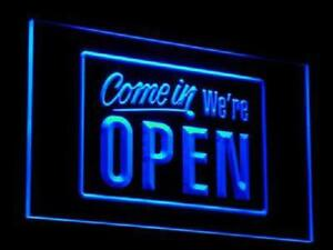 Led We re Open Sign For Cafe Bar Pub Neon Light On off Switch Restaurant Decor