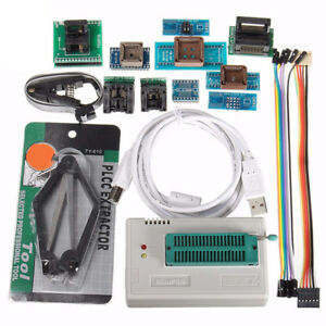 Tl866a Usb Programmer Eeprom Flash 8051 Avr Mcu Gal Pic Spi With Adapter Tool Us