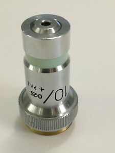 Microscope Lens10 0 25 ph i Vickers England Y8787 Microplan