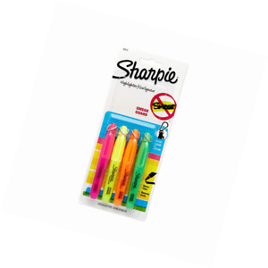 Sharpie Accent Mini Highlighters 4 Colored Highlighters 20374