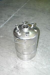 Alloy Products Sanitary Stainless Steel Pressure Vessel Tank 6 Gallon 22 7l