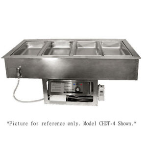Apw Wyott Chdt 6 Electric Drop in Hot cold Food Well With 6 Inset Pans