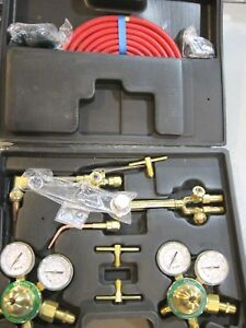 Gas Welding Cutting Kit Acetylene Oxygen Torch Set Regulator free Shipping