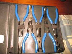 Blue Point snap On 5 Piece Extended Reach Pliers Set 11 New In Case
