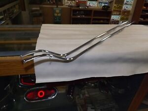 1956 Cadillac Quarter Panel Fin Stainless Trim Mouldings Pair