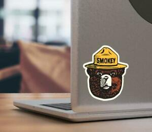 Smokey The Bear Firefighting Wildlife Decal Sticker For Car Truck Laptop Moto