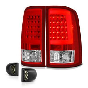 Red Neon Tube Tail Lamp Led License Plate Light 07 13 Sierra 1500 2500 3500 Hd