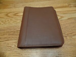 Daytimer Organizer Planner Cover 7 Ring Top Grain Cowhide Zip 10x8 7 Rings Euc