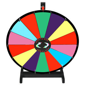 24 Tabletop Spinning Prize Wheel 14 Slots W dryerasable Trade Show Carnival