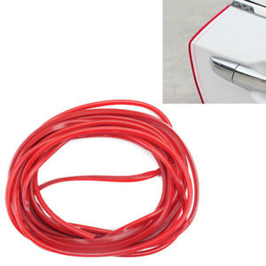 5m Red Car Side Door Edge Defender Protector Trim Guard Protection Strip