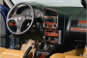 For Bmw E36 3 Series Interior Dash Trim Kit 3m Dash Trim Burl Wood 20 Pcs 91 98