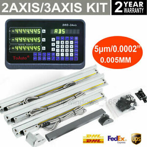 2 3 Axis Digital Readout Linear Glass Scale Display Cnc Milling Lathe Encoder