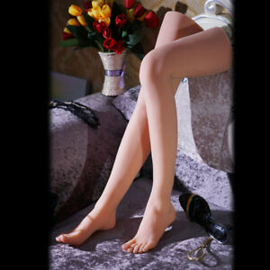 Sexy Long Leg Lifelike Silicone Female Mannequin Foot Model Shoes Display Prop