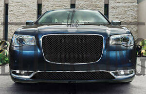 Fits 2015 2020 Chrysler 300 Black Mesh Grill Bentley Grille Full Replacement