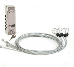 Garment Security Cable Lock Anti theft System Retail Clothing Store Fixture New