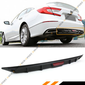 For 2018 2019 Honda Accord 10th Gen Sport Jdm Rear Bumper Diffuser Lip