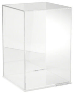 Plymor Acrylic Display Case With Clear Base mirror Back 10 W X 10 D X 15 H