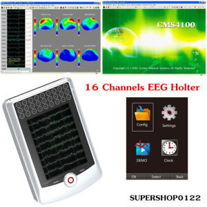 16 Channels Eeg Holter 24 hour Carrying Record Eeg Signal Clipping Software Cd