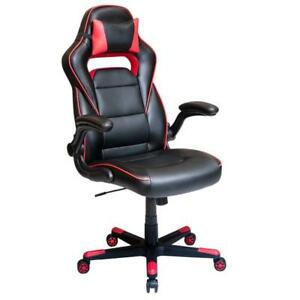 Height Adjustable Office Chair With Detachable Headrest Pillow And Flip Up