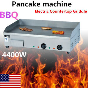 4400w Electric Countertop Griddle Flat Top Commercial Restaurant Grill Bbq Top