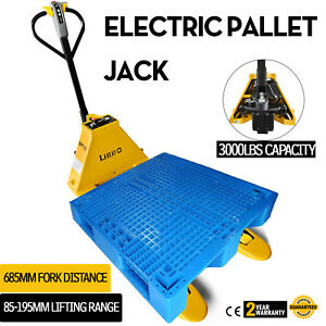 1 5t 3300lbs Electric Pallet Jack Stable Strong Frame Lithium Battery