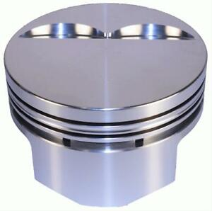 Dss Racing Pistons Forged Flat 4 030 In Bore 350 Chevy Set Of 8