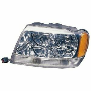 Left Headlight 99 04 Jeep Grand Cherokee Wj