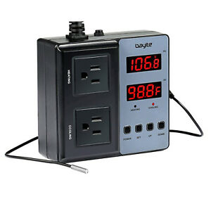 Bayite Temperature Controller Btc201 Outlet Pre wired Digital Thermostat