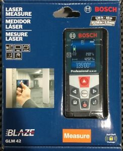 Bosch Glm 42 Laser Measure Full color Display Glm42 Brand New Sealed In Box