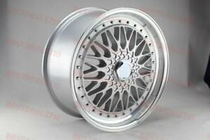 18 Staggered Silver Rs Style Rims Wheels Fits Vw Gti Gli Passat Jetta 5x112