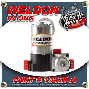 Weldon Racing 19420 A High Performance Drag Racing Only Fuel Pump