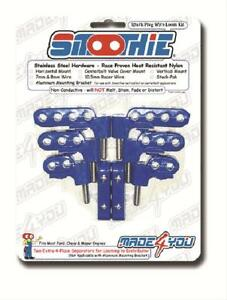 Made For You Prod Ignition Wire Loom separator Horizontal Polymer Blue 7 8mm Kit