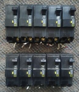 Lot Of 10 Square D 2 Pole 15a Ground fault Interrupter Circuit Breakers Ac 449