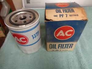 Nos New 2 Ac Oil Filter Pf 7 Buick Cadillac Oldsmobile Pontiac Vintage Parts