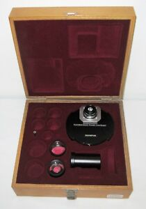 Olympus Fluorescence Phase Contrast Condenser Set Aplanat 1 4 Afpc Afp Lenses