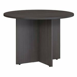 Bush Business 42w Round Conference Table In Storm Gray