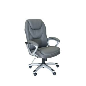 Serta Works Executive Office Chair In Mesh Light Gray
