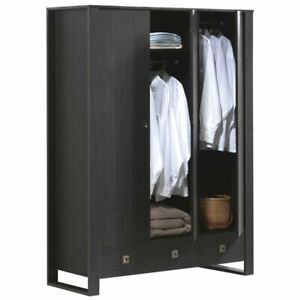Acme Alexis Wardrobe With 3 Drawers In Espresso