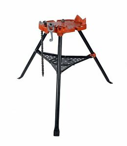 Ridgid 36273 460 Portable Tristand Chain Vise 1 8 6 72037 reconditioned